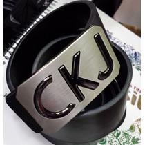 Cinto Calvin Klein Ck Masculino Em Couro Coleção Nova Brilho