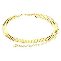 Cinto Feminino Fino Placas Dourada
