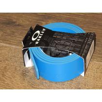 Cinto Oakley Couro Pacific Blue Max 120cm Sem Fivela