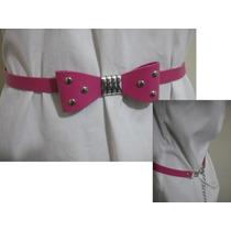 Cinto Feminino Rosa Pink Detalhe Laço Ótimo Estado