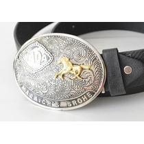 Cinto Couro Cowboy Country Rodeio Festa Peão