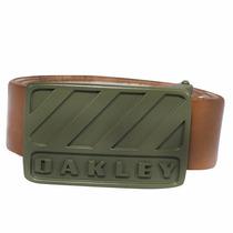 Cinto Oakley Couro Halifax Belt Marrom Lançamento
