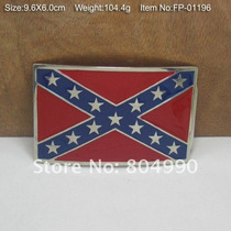 Fivela Importada P/ Cintos Bandeira Confederados Celular Gol
