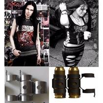 Cinto Com Balas Punk Rock Metal Gotico Arma Defesa Segurança