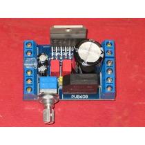 Placa Montada Amplificador Potência Estéreo Com Tda7379 38w