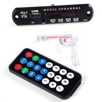 Modulo Leitor Mp3 Usb P/ Caixa Ativa Amplificador C/ Sd Fm