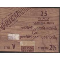 Palheta Rico Clarone Alto V Style Eb / Mib #2,5