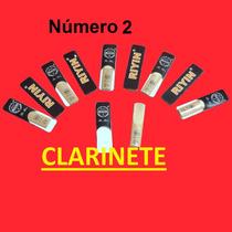 Palhetas Clarinete Riyin Nº 2 - Caixa Com 10 Unidades