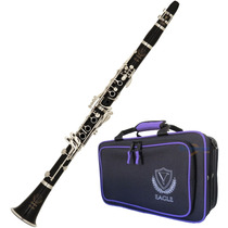 Clarinete Eagle Cl 04 Sib 17 Chaves C/ Case