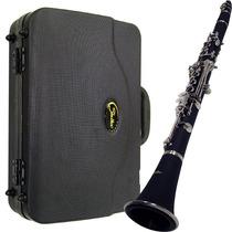 Clarinete Shelter Tjs6402 Niquelado Eb Com Hard Case