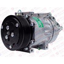 Compressor Ar Condicionado 7h15 Scania / Volvo Polia 8pk 24v