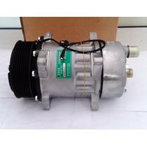 Compressor Ar Cond Universal 7h15 8 Orelhas Polia 8pk - Novo