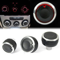 Kit Botão Aluminio Ar Condicionado Vw Golf Bora Gol Seat