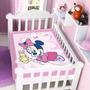 Cobertor Jolitex Infantil Berço Bebê Disney Minnie Coelhinho