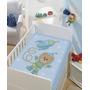 Cobertor Anti Alérgico Jolitex Baby Astronauta Azul / Verde