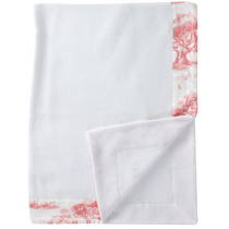 Cobertor Berço Bebe Soft Jouy Barra Com Costura Biramar Baby