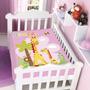 Cobertor Jolitex Infantil Berço Bebê Fisher Price Girafas