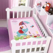 Cobertor Jolitex Infantil Berço Bebê Fisher Price Elefante