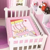 Cobertor Jolitex Infantil Berço Bebê Ursinhos No Balão