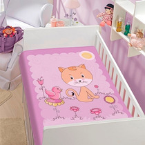 Cobertor Jolitex Infantil Berço Bebê Tradicional Gatinha