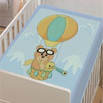 Cobertor Jolitex Infantil Berço Bebê Tradicional Balão Azul