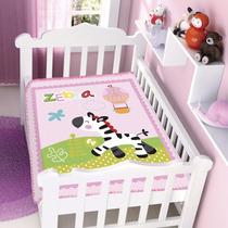 Cobertor Jolitex Infantil Berço Bebê Fisher Price Zebra