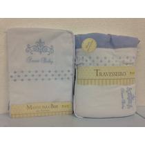 Kit Enxoval Para O Bebê Manta E Travesseiro Bordado