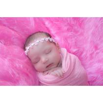 Kit De 4 Mantas De Pelo Alto Newborn - Cores A Escolher