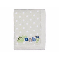 Manta / Cobertor Para Bebê Fleece Bordada Lepper Verde