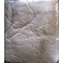Cobertor Infantil Raschel C/ Relevo Jolitex - Bicicleta/bege