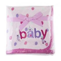 Manta Para Bebê Estampada Com Bordado-rosa.frete Grátis