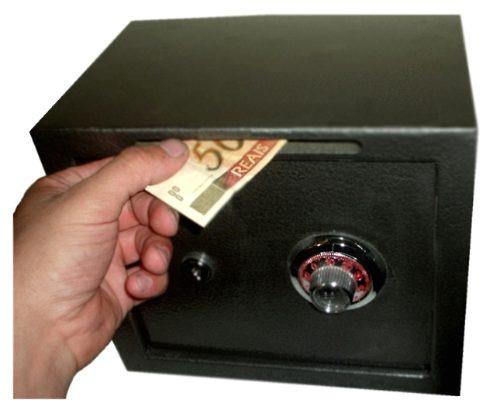 Cofre Minibox Com Segredo E Chave Para Fixar Promoção