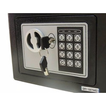 Mini Cofre Digital C/chave De Segurança Eletrônico Aço 17x23