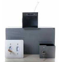 Cofre Tomada Médio P/ Embutir Com Elétrica Funcional