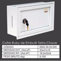Cofre De Embutir Na Parede Mecânico Chave Tetra Alp 24x41x15