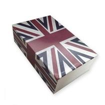 Caixa Livro Cofre Camuflado Aço Inglaterra 2 Chaves