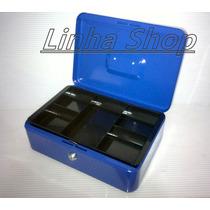Cofre De Metal C/ Bandejas Internas 30cm X 21cm X 10cm