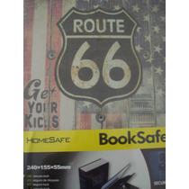 Cofre Livro Route 66 De Aço Para Joias Dinheiro Rota 66