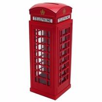 Cofre Cabine Telefone Londres Metal Otimoproduto