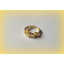 Anel Claddagh Celtic Knot - Prata Ouro 18k - A R O S 12 - 16