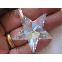 Namorados Colar Pingente Estrela Cristal Swarovski 4,0 Cm