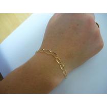 Mulher Pulseira Ouro /18k/750 /elos 5x10 /1,10 Gr/ 20cm