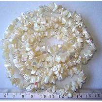 Cascalho Madreperola Branca Fio 80cm Teostone Colar 360