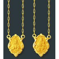 Leão Jóias Escapulario Em Ouro Feminino 2,4 Gr 18k