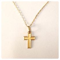 Crucifixo Pingente Cruz Masculino Ouro Amarelo 18k Dia Pais