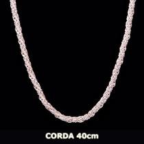 Corrente Corda Em Prata 925 40cm 5,7grs Frete Grátis