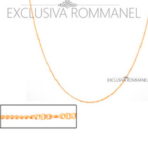Rommanel Corrente Gargantilha Cordao Folh Ouro 18k 530695