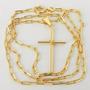 Corrente Masculina 80cm 2mm Cartier Cruz Folheada Ouro Cr677