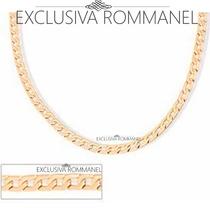 Rommanel Corrente Masculina Diamantada Folheada Ouro 531263
