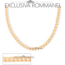 Rommanel Corrente Masculina Elos 1x1 Diamantados 60cm 531263